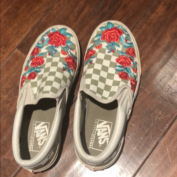 Vans Shoes | Checkered With Embroidered